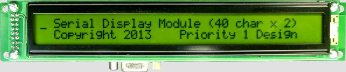 Serial LCD display module 2 line 40 character